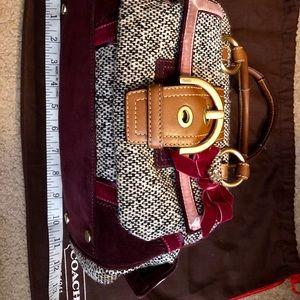 Tweed Coach Handbag